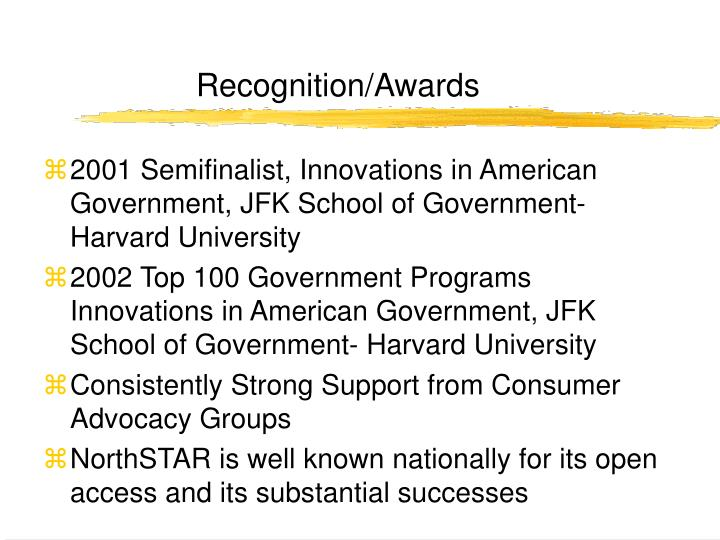 Recognition/Awards