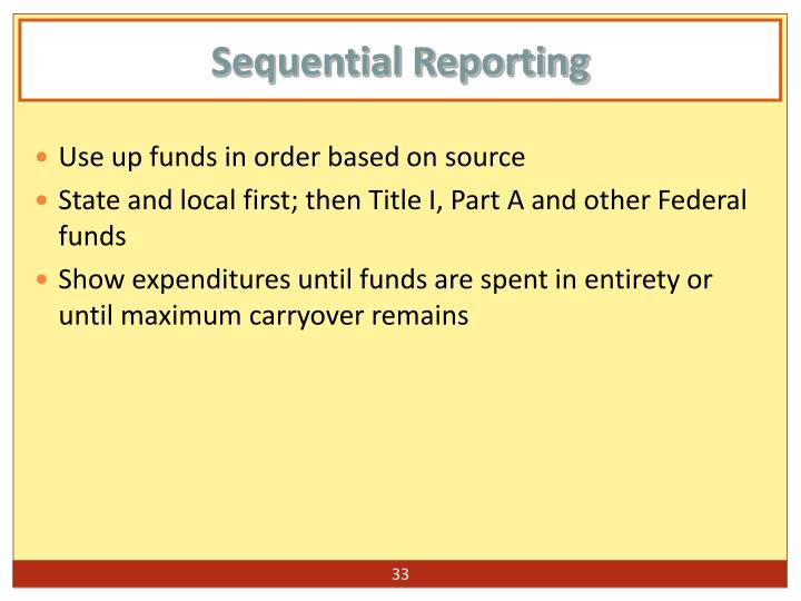 Sequential Reporting