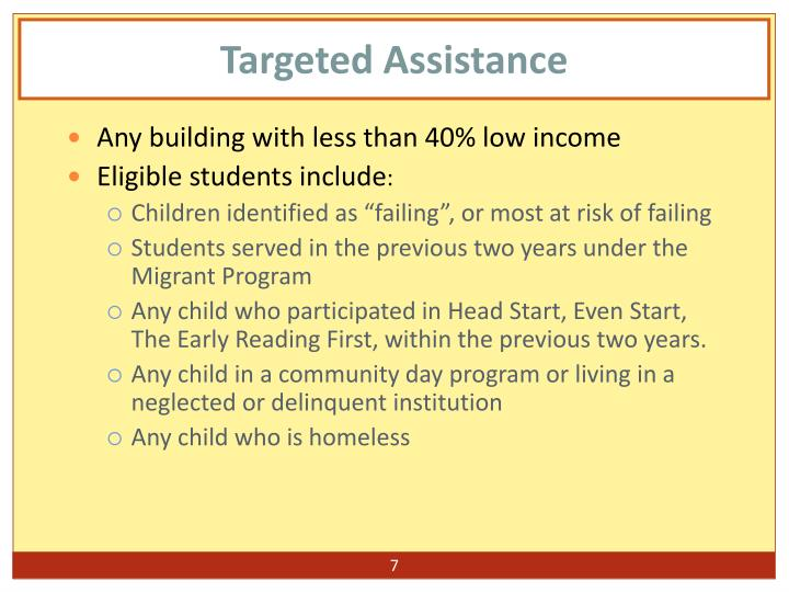 Targeted Assistance