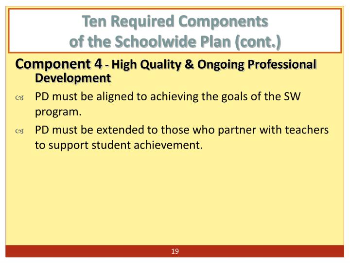 Ten Required Components