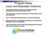 program areas local and statewide initiatives