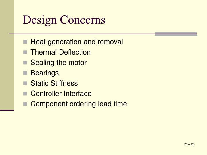 Design Concerns