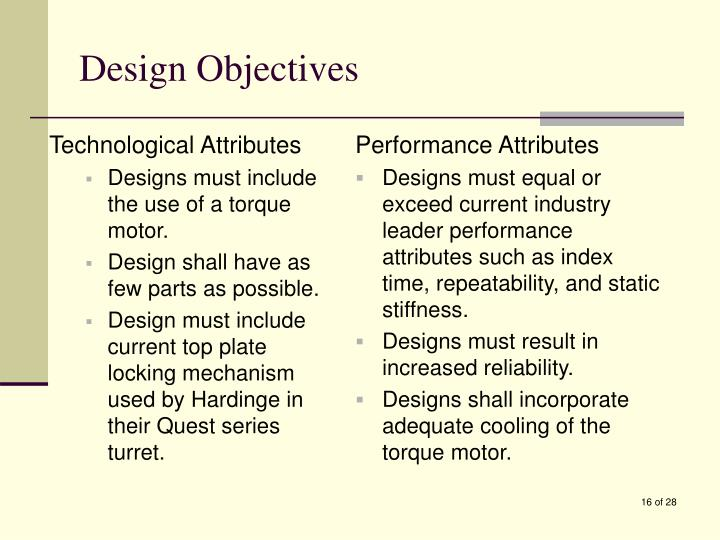 Technological Attributes