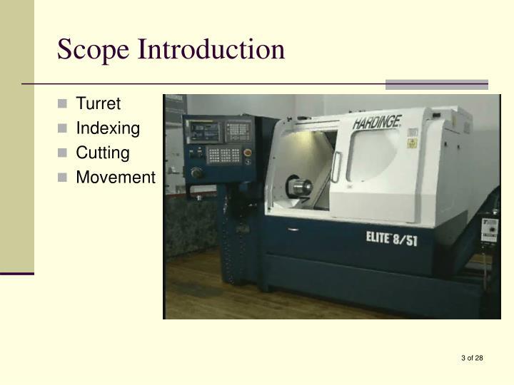Scope introduction
