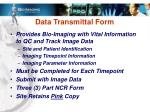 data transmittal form