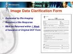 image data clarification form