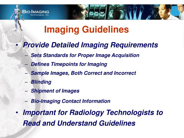 Imaging Guidelines