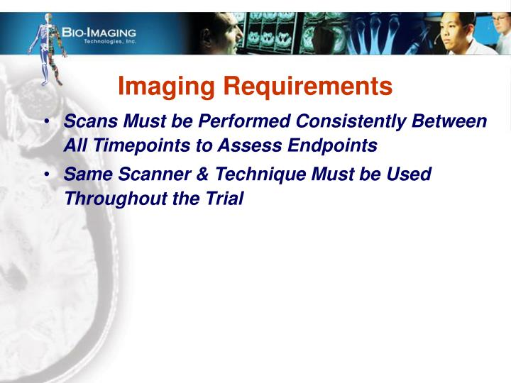 Imaging Requirements