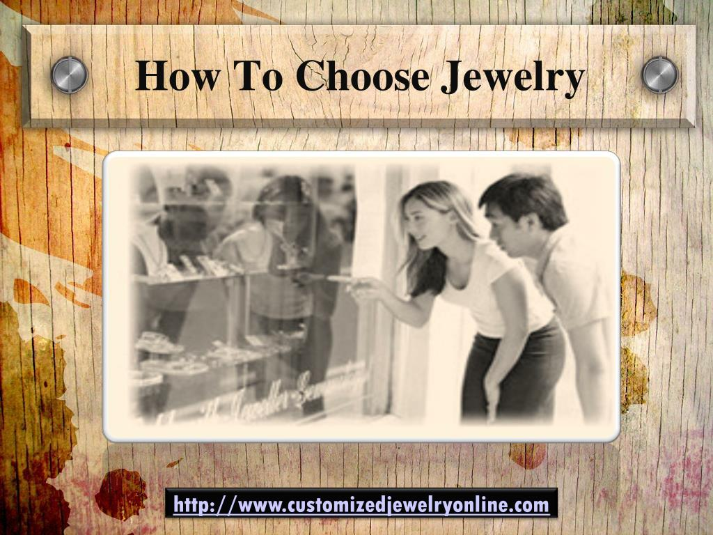 how to choose jewelry l.