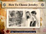 how to choose jewelry