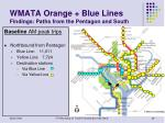 wmata orange blue lines findings paths from the pentagon and south