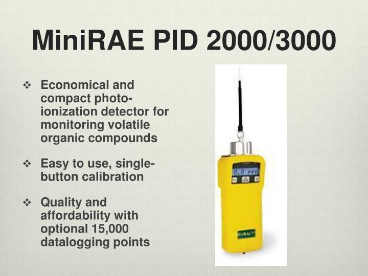 MiniRAE PID 2000/3000