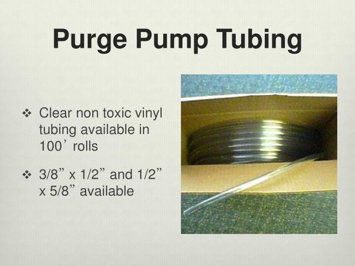 Purge Pump Tubing
