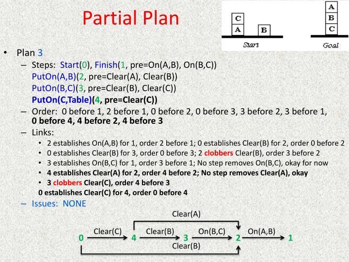 Partial Plan