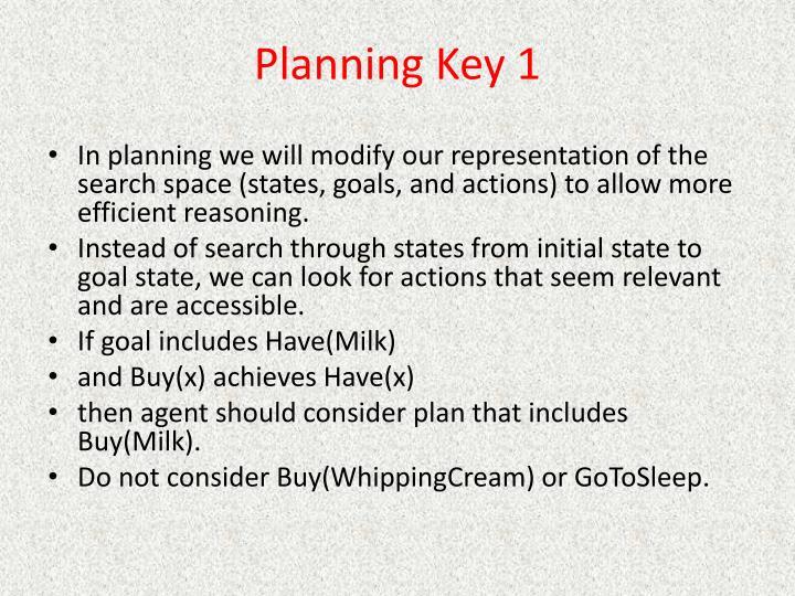 Planning Key 1