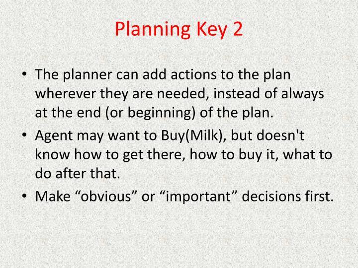 Planning Key 2