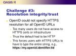 challenge 3 resolution integrity trust