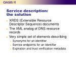 service description the solution