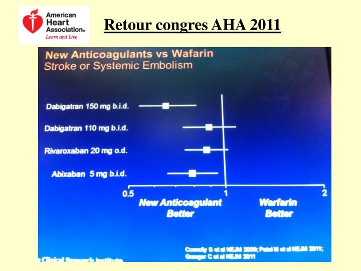 Retour congres AHA 2011