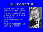 1968 the end of lbj