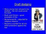 draft dodging