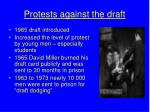 protests against the draft