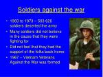 soldiers against the war