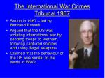 the international war crimes tribunal 1967