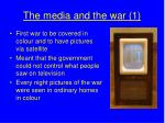the media and the war 1