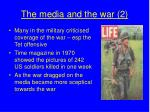 the media and the war 2