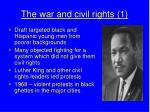 the war and civil rights 1