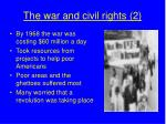the war and civil rights 2