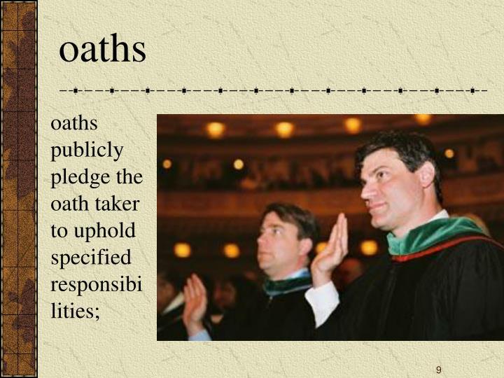 oaths