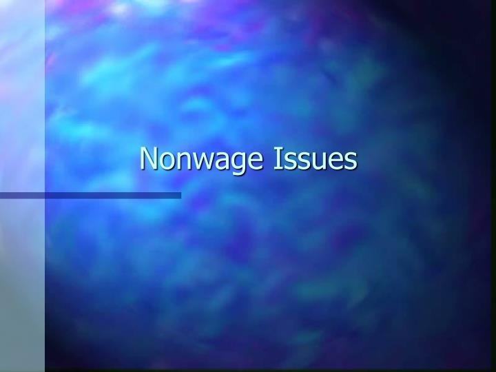 nonwage issues n.