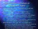 some common limitations on management rights