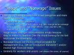 wage and nonwage issues
