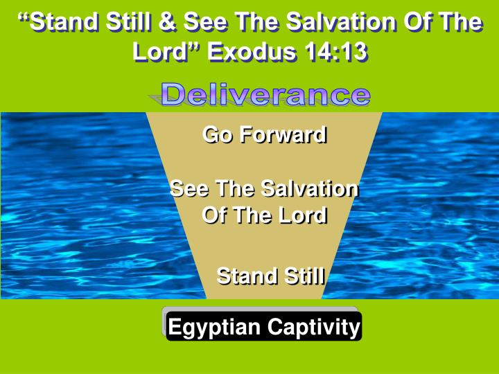 stand still see the salvation of the lord exodus 14 13 n.