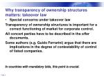 why transparency of ownership structures matters takeover law