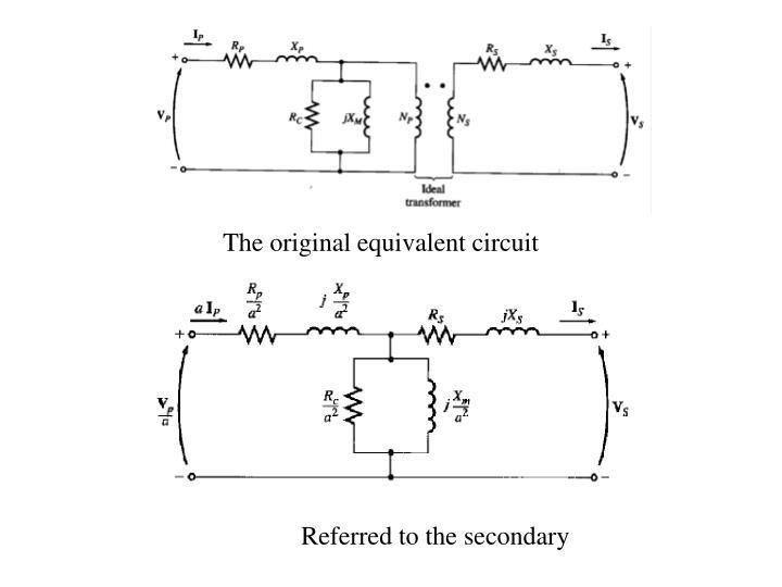 The original equivalent circuit