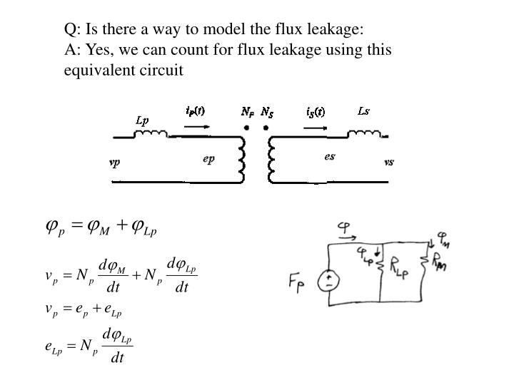 Q: Is there a way to model the flux leakage: