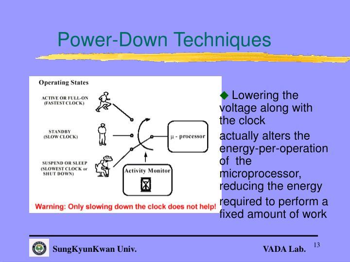 Power-Down Techniques