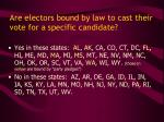 are electors bound by law to cast their vote for a specific candidate
