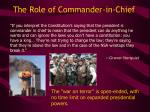 the role of commander in chief