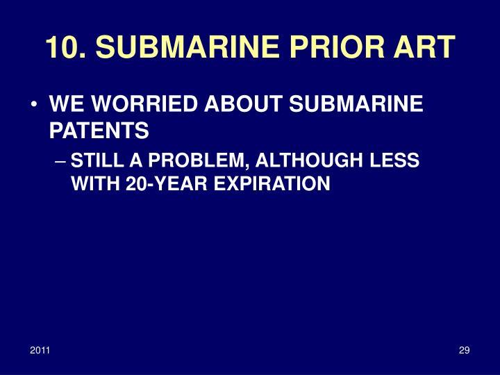 10. SUBMARINE PRIOR ART