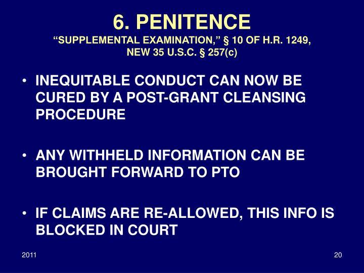 6. PENITENCE