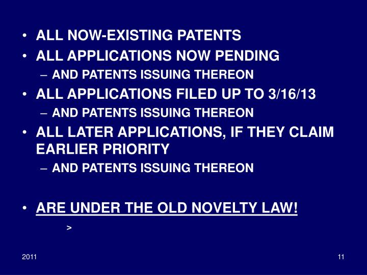 ALL NOW-EXISTING PATENTS