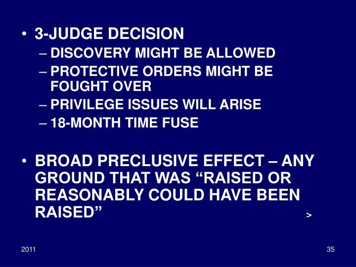 3-JUDGE DECISION
