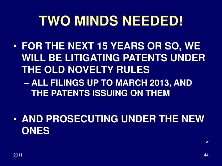 TWO MINDS NEEDED!
