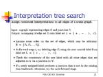 interpretation tree search