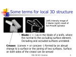 some terms for local 3d structure